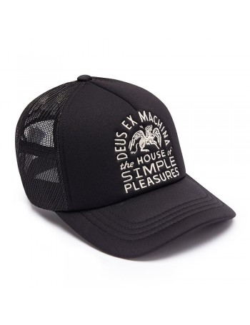 DEUS Hat Trucker HOUSE Pegasus - black