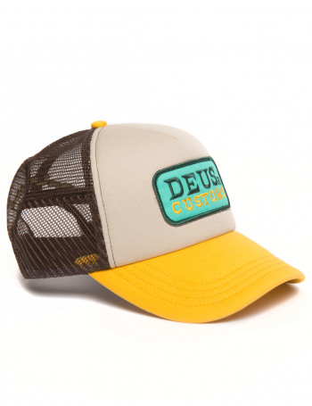 DEUS Trucker cap Gilmour - brown gold