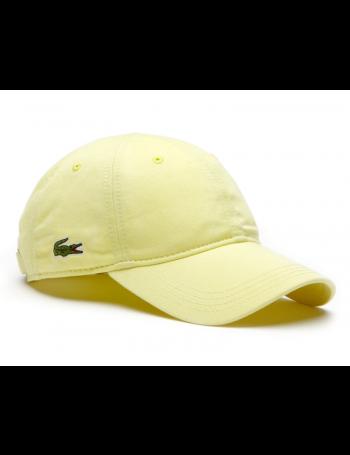 Lacoste hat - Gabardine cap - sulphur pit yellow
