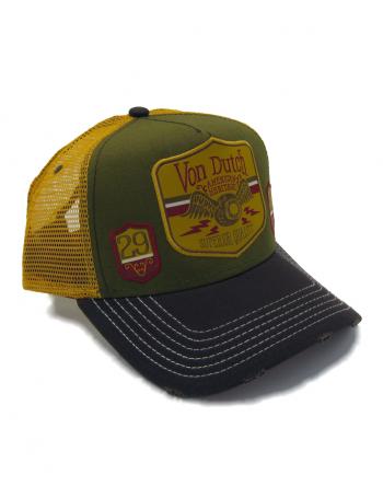 Von Dutch American Hertiage trucker cap - green brown