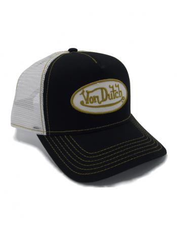 Von Dutch Logo trucker cap - black yellow