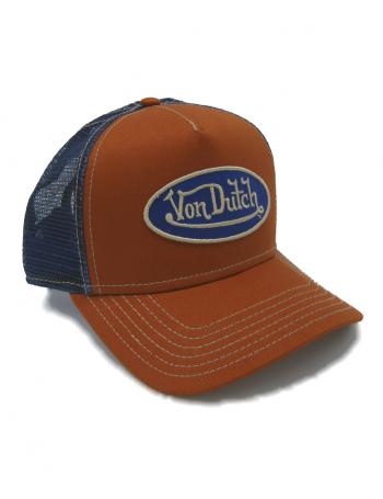 Von Dutch Logo trucker cap - orange blue