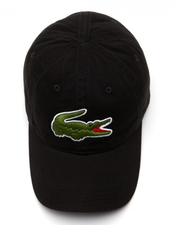 Lacoste hat - Big Croc Gabardine - noir black - €44 e0f54320133