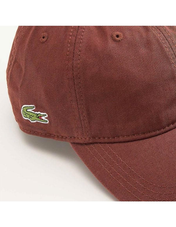 a398ff63343 Lacoste hat - Gabardine cap - cevennes brown - €34