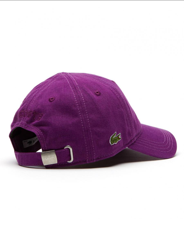 5293e2bb047 Lacoste hat - Gabardine cap - cosak purple - €34